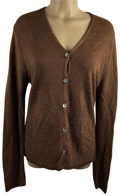 Preload https://img-static.tradesy.com/item/21003813/chico-s-brown-nubby-knit-button-cardigan-size-6-s-0-4-650-650.jpg