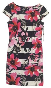 Vince Camuto Floral Strip Vince Flower Dress