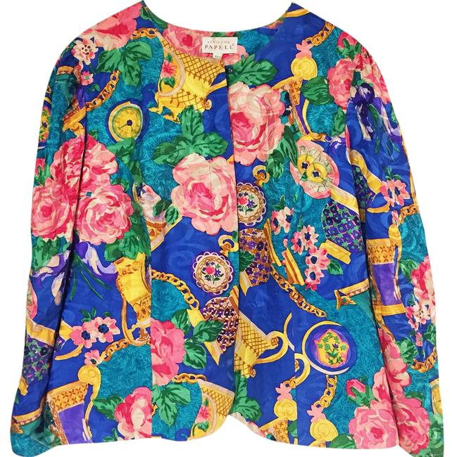 Preload https://img-static.tradesy.com/item/21003886/adrianna-papell-vintage-floral-silk-printed-cardigan-blouse-spring-jacket-size-20-plus-1x-0-1-650-650.jpg