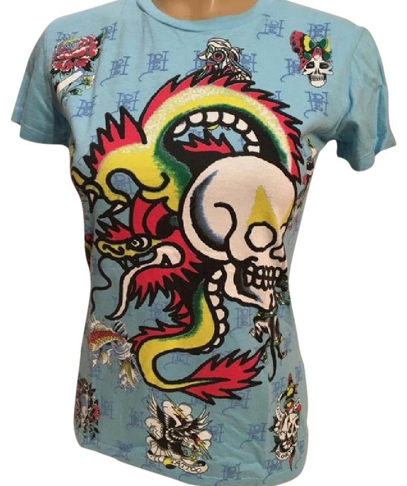 sneakers for cheap cozy fresh enjoy clearance price Blue Dragon Skull Tee Shirt