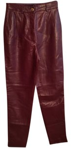 Escada Straight Pants Burgundy