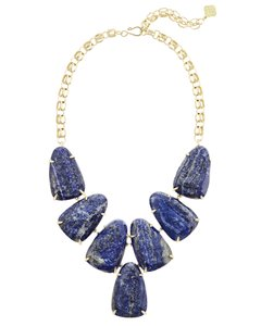 Kendra Scott Kendra Scott Harlow Statement Necklace In Raw Cut Lapis RARE