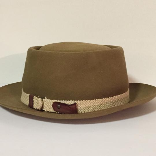 Stetson rare vintage clear nutria cowboy western flat top Stetson hat Image 2