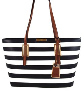 ALDO Tote in Black/White Stripe