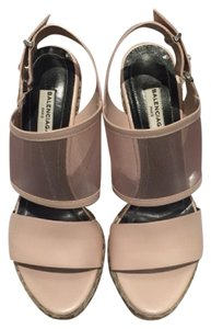 Balenciaga Blush Wedges