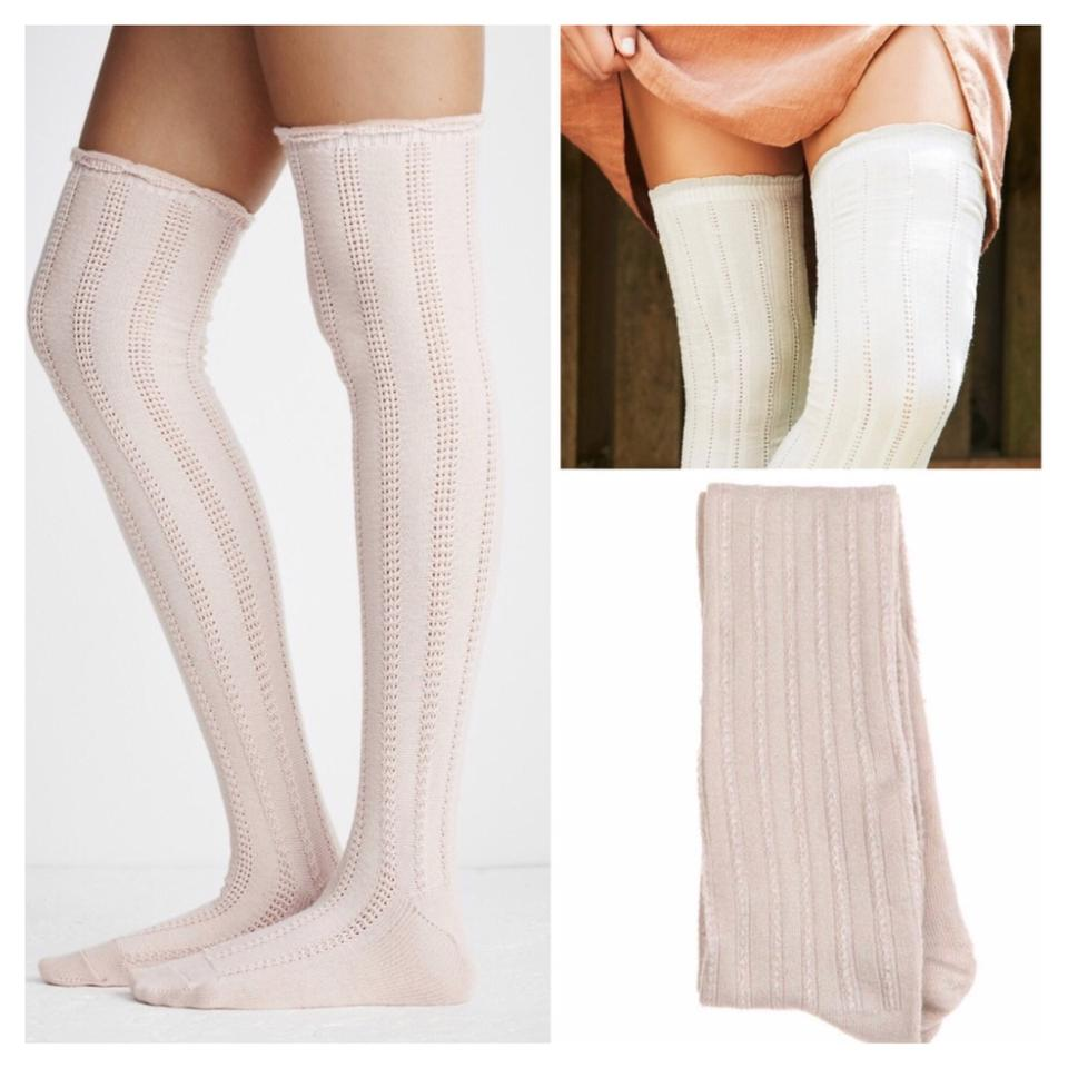 0a02d425b Free People FREE PEOPLE Tall Over The Knee Boot Socks Thigh Highs Image 5.  123456
