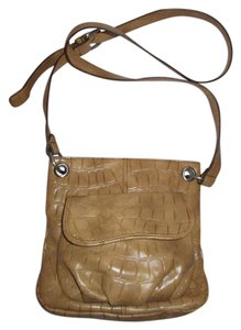 Coldwater Creek Croc Man Made Faux Leather Cross Body Bag