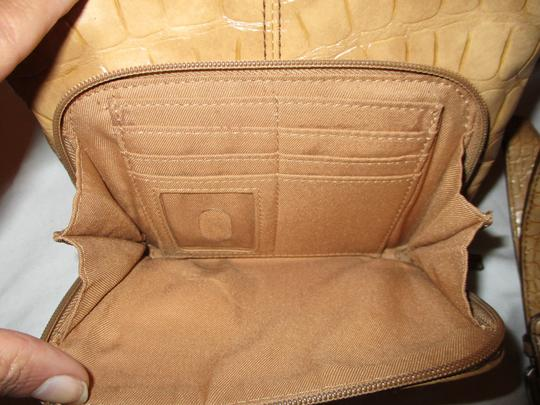 Coldwater Creek Croc Man Made Faux Leather Cross Body Bag Image 10