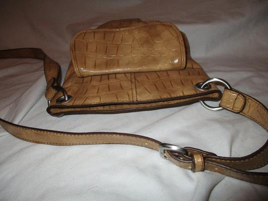 Coldwater Creek Croc Man Made Faux Leather Cross Body Bag Image 11