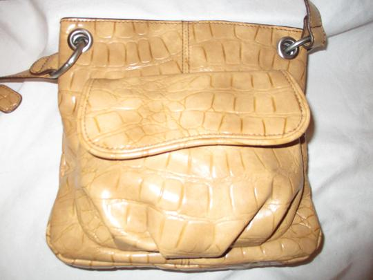 Coldwater Creek Croc Man Made Faux Leather Cross Body Bag Image 2
