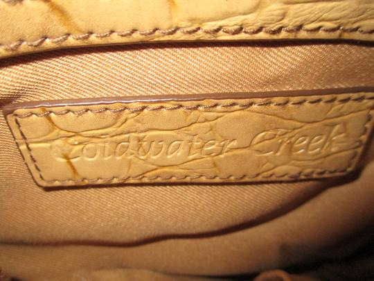 Coldwater Creek Croc Man Made Faux Leather Cross Body Bag Image 4