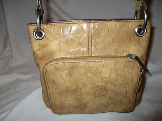 Coldwater Creek Croc Man Made Faux Leather Cross Body Bag Image 6