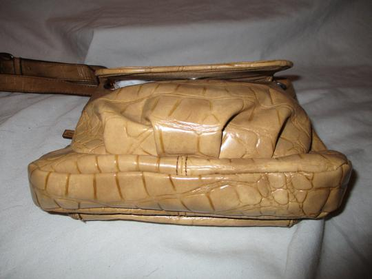 Coldwater Creek Croc Man Made Faux Leather Cross Body Bag Image 8
