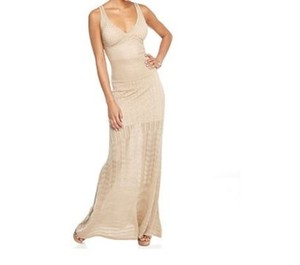 Gold Maxi Dress by XOXO Maxi Crochet Summer