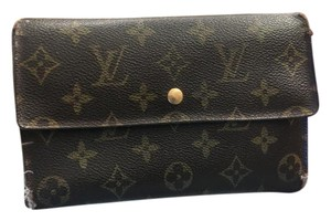 Louis Vuitton Brown Leather Clutch