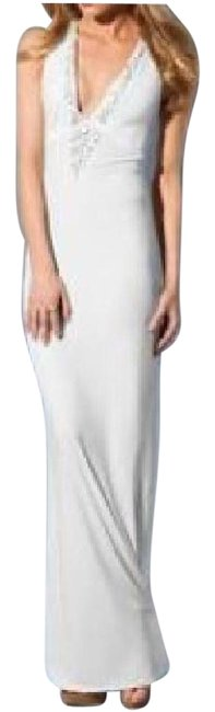 Preload https://img-static.tradesy.com/item/21004453/victoria-s-secret-ivory-with-beaded-v-neck-long-casual-maxi-dress-size-4-s-0-3-650-650.jpg