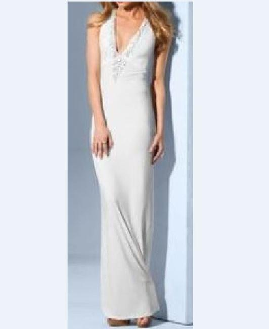 Ivory Maxi Dress by Victoria's Secret Bridal Shower Beach Embellished Image 1