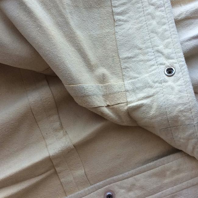 DKNY LEATHER/SUEDE CREAM BUTTON DOWN SHIRT. NEVER WORN. PAID 2000.00. it's been wrapped in plastic to protect it. from LORD AND TAYLORS. Top cream Image 5