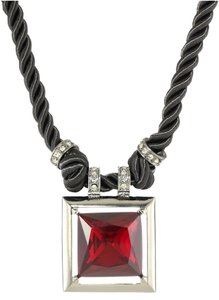 Kenneth Cole New! Kenneth Cole 'Modern Garnet' Faceted RED Glass Necklace Crystals Hematite K03881