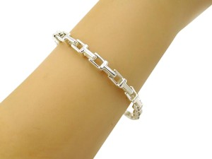 Tiffany & Co. Tiffany & Co. T Design Sterling Silver Narrow Chain Bracelet