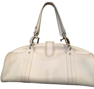 Dior Satchel in White with silver accents
