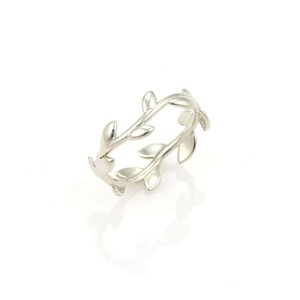 Tiffany & Co. Tiffany & Co. Picasso Sterling Silver 5mm Wide Olive Leaf Band Ring
