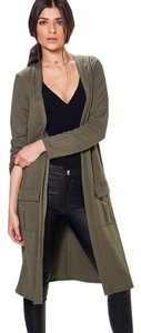 Other Duster Military Green Green Long Trench Coat