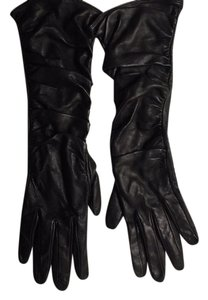 Nordstrom elbow-length leather gloves