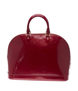 Louis Vuitton Lv Vernis Indian Rose Satchel in Red