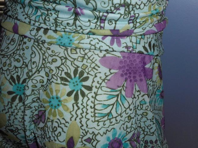 Weekenders No Iron Floral 2018 Spring Colors Paisley Skirt pink, lavender, gold, brown, ivory & teal Image 2