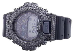 G-Shock Casio Mens G Shock 6900 Black Gold Finish Diamond Watch 5.5