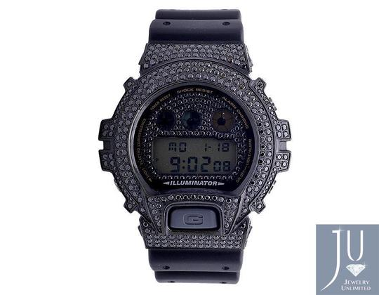 G-Shock Casio Mens G Shock 6900 Black Gold Finish Diamond Watch 5.5 Image 4