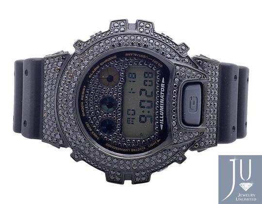 G-Shock Casio Mens G Shock 6900 Black Gold Finish Diamond Watch 5.5 Image 5