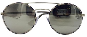 Prada Stunning Round Aviator Tortoise and Gold Prada Sunglasses SPR51S 54