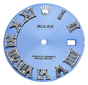 Rolex Pave Set Diamond Blue Dial for Rolex Datejust 2 41MM Watch 0.75Ct