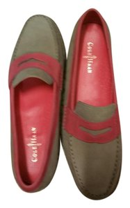 Cole Haan Khaki and Pink Flats