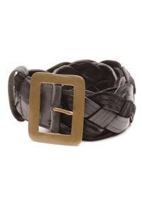 Mulberry Mulberry Black Leather & Suede Braided Wide Belt
