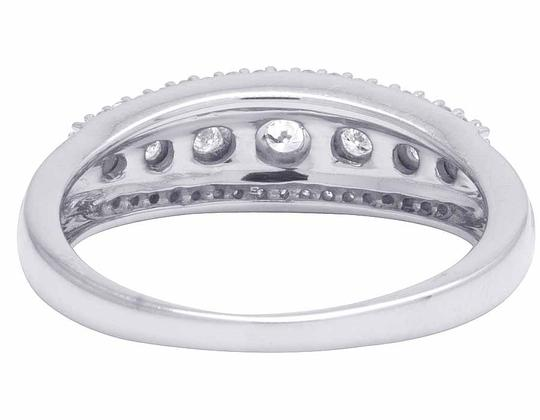 Jewelry Unlimited Ladies 10K White Gold Genuine Diamond Miracle Set Band Ring 0.25 CT Image 2
