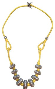 Rebecca Minkoff Rebecca Minkoff yellow cord and silver bead necklace