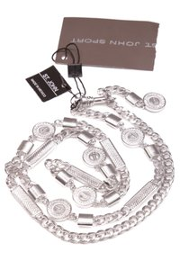 St. John St. John Brushed Rhodium Chain Belt