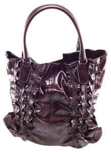 Valentino Patent Leather Tote in Purple