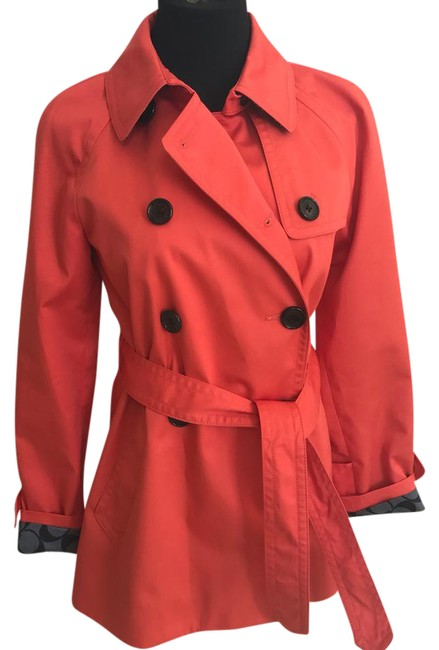 Item - Orange Red Coat Size 4 (S)
