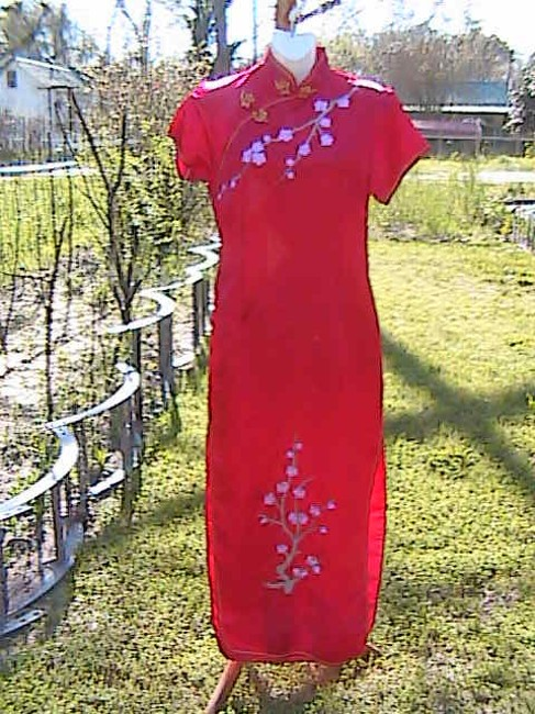 Periwing Chinese Floral Dress
