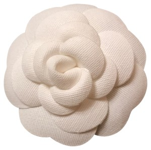 Other Classic White Camellia Flower Fabric Brooch Pin