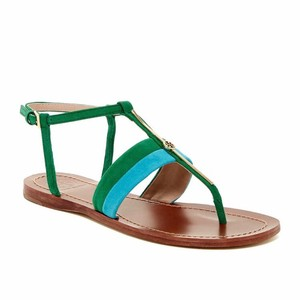 Tory Burch Bermuda teal emerald stone Sandals