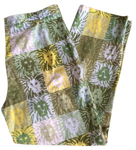 Anne Klein Vintage Lion Patchwork Festival Resort Pants