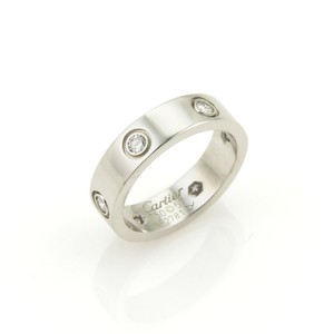 Cartier Cartier Love 6 Diamonds 18k White Gold 5.5mm Wide Band Ring