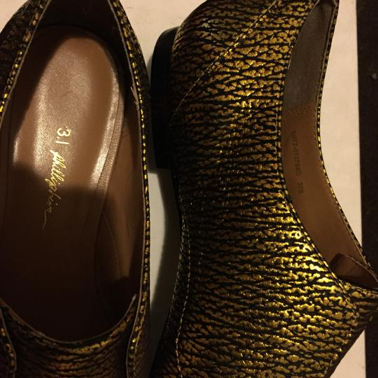 3.1 Phillip Lim black and gold Flats Image 3