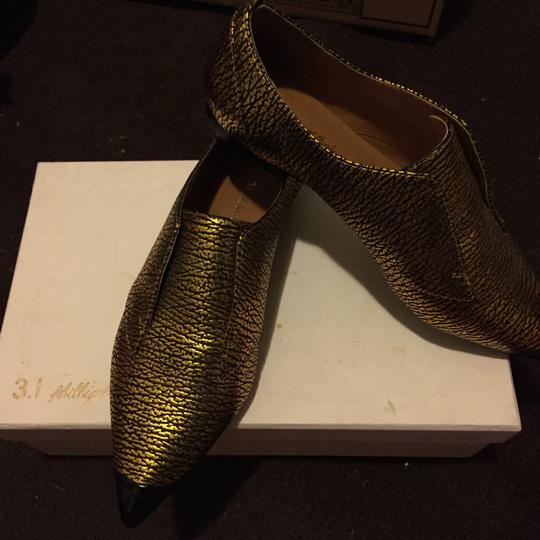 3.1 Phillip Lim black and gold Flats Image 4