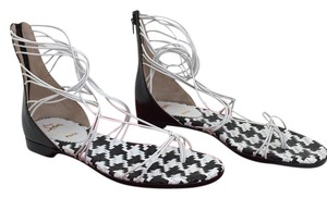Christian Louboutin black and white Sandals